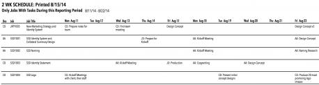 SM13 2wk Schedule
